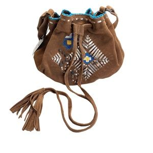 VHTF: Tylie ꧁ Embellish Suede Medicine Bag ꧂ Xbody